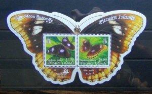 Pitcairn Island 2005 Blue Moon Butterfly Miniature Sheet LMM