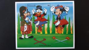 Disney - Grenada 1996. ** MNH Block/2