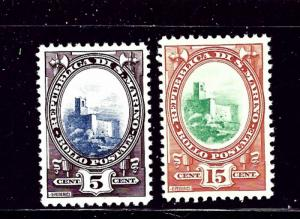 San Marino 115 and 117 MH 1927-35 issues