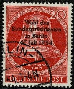 GERMANY BERLIN 1954 PRESIDENTIAL ELECT USED (VFU) SG B115 Wmk.230 P.14 SUPERB