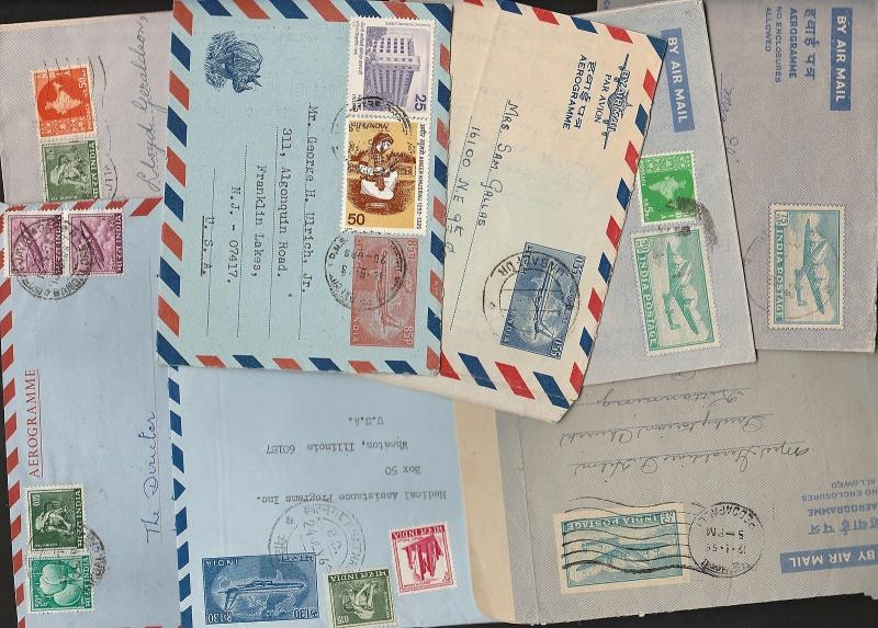 Worldwide Collection 29  Postal Stationary - Aerogrammes, India,  Europe, Asia +