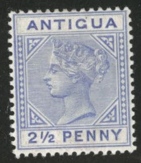 Antigua Scott 14  MH* 1866 Queen Victoria Issue