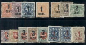 LITHUANIA #123-39, Complete sets, og, hinged, F/VF, Scott $289.00