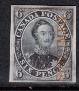 Canada #2TCx Very Fine Plate Proof On Card
