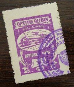 Yugoslavia Serbia SOMBOR Local Revenue Stamp 50 Dinara  CX11