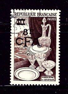 Reunion 303 Used 1954 overprint