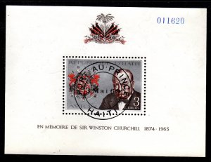 Haiti - Cancelled Souvenir Sheet Scott #C323 (Winston Churchill)
