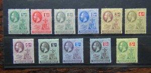 Montserrat 1916 - 1922 set to 5s Fine Fresh Mint SG49 - SG59