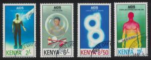 Kenya AIDS Day 4v CTO SG#561-564