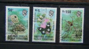 British Indian Ocean Territory 1973 Wildlife set 1st Series Used