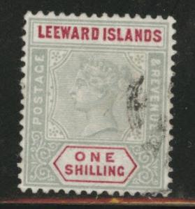 Leeward Islands Scott 7 Used 1890 Queen Victoria wmk 2 CV$55