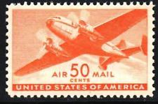 SCOTT # C 31 50 CENT DESIRABLE AIR MAIL SINGLE MINT NEVER HINGED SCV $ 50
