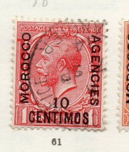 Morocco Agencies 1920s-30s Early Issue Fine Used 10c. Optd Surcharged NW-169071