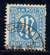 Germany AM Post Scott # 3N11, used, variation