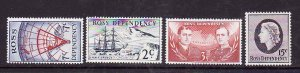 Ross Dependency-Sc#L5-8- id4-unused NH set-Ships,Maps-1967-