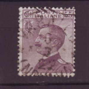 J20076  jlstamps 1908-27  italy used #106 king