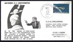 U.S.A. CAPE CANAVERAL Saturn C-1 Successful (1962) Cover
