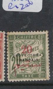 French Morocco Telegraph Y&T T25 MOG (10drq)