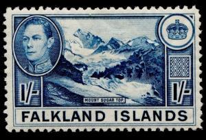 FALKLAND ISLANDS SG158, 1s LIGHT dull blue, M MINT. Cat £75.