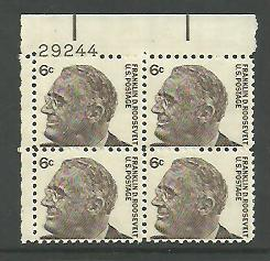 1966 6 Cent Franklin D Roosevelt Sheet Of Stamps Sc 1284