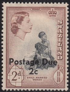Swaziland J5a Unused 1961 Postage Due
