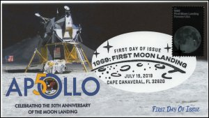 19-139, 2019, Moon Landing  Apollo 11, Pictorial Postmark, FDC, Cape Canaveral