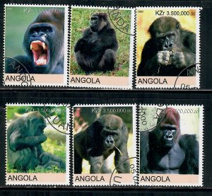 Angola Used Gorillas complete set CTO