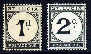 ST LUCIA 1933-47 POSTAGE DUES 1d. & 2d. Wmk MSCA SG D3 & SG D4 MINT
