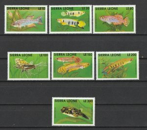 Sierra Leone MNH Fish Marine Life Set Of 7