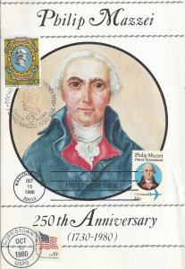 USA 1980 - TRIBUTE TO PHILIP MAZZEI - FOUR SCANS - VERY FINE