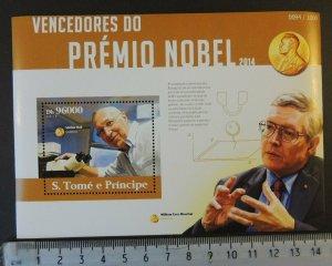 St Thomas 2015 nobel prize stefan hell s/sheet mnh