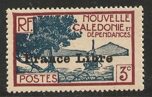 New Caledonia #219 VF MNH - 1941 3c Ship French Libre