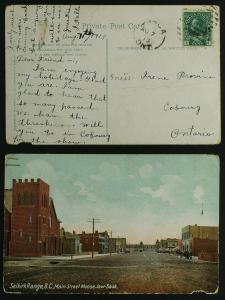 Osaca ont open circle pmk 1913 on PPC Moose Jaw (faults)