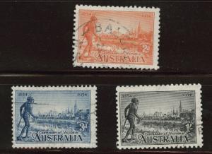 Australia Scott 142-144 Used 1934 Victoria centenary set