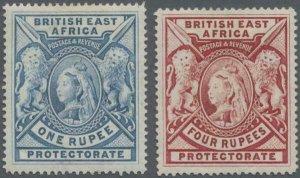 MOMEN: EAST AFRICA SG #92,95 1897 MINT OG H LOT #60207