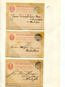 Switzerland  used and unused Correspondence cards 1874   - Lakeshore Philatelics