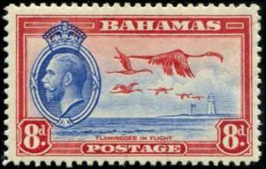 Bahamas SC# 96 SG# 145 George V & Flamingos in Flight 8d MH