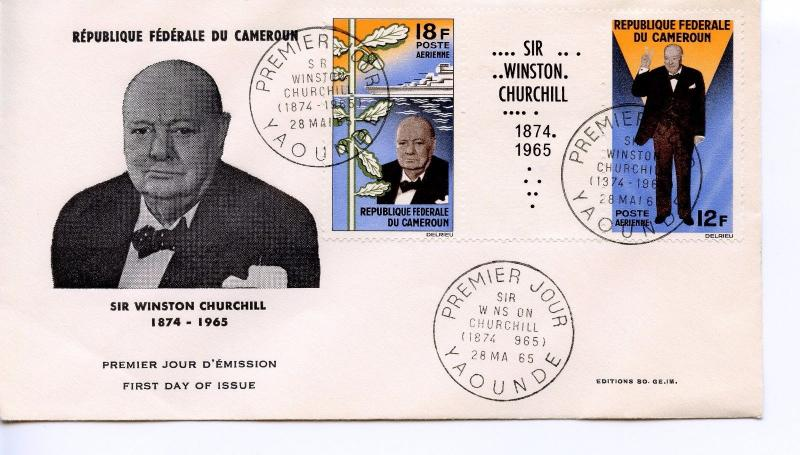 CAMEROON  -  1965 Airmail - Churchill Commemoration   FDC1213