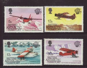 1986 Br Antarctic Terr Manned Flight Set Unmounted Mint SG119/122