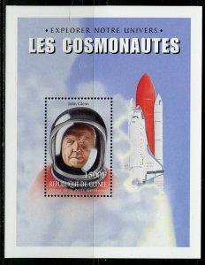 GUINEA COSMONAUTS/ASTRONAUTS JOHN GLENN SPACE SHUTTLE SOUVENIR SHEET MINT NH