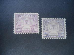 U.S. # 701 VFOG...Lilac & Red Lilac Copies