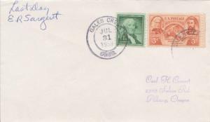 United States Oregon Gales Creek 1959 double ring  1874-1959  Philatelic.