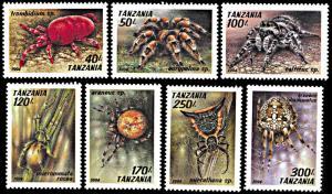 Tanzania 1235-1241, MNH, Arachnids