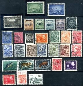 Yugoslavia 30 Different Mint & Used CV$8.70