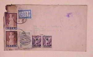 GREECE  COVER 1938 TO USA