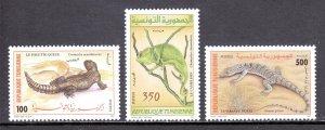 Tunisia - Scott #1130-1132 - MNH - SCV $2.50