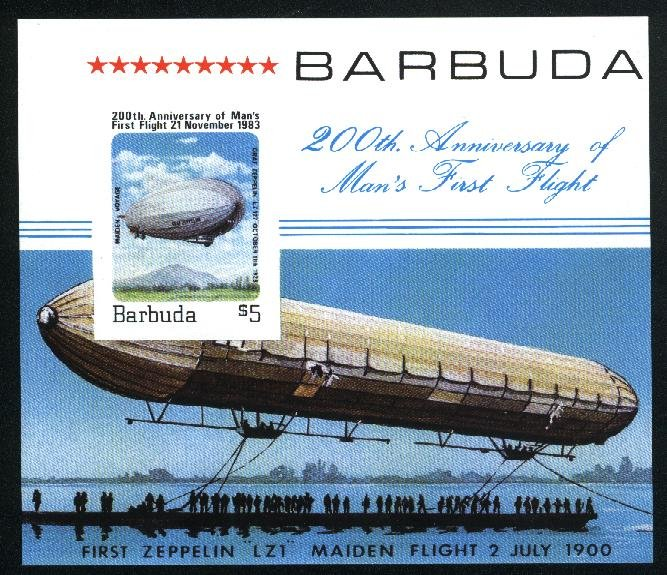 Barbuda  SS First Flight Mint NH VF 1983 PD