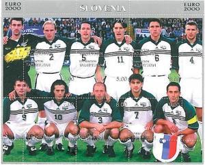 FOOTBALL - STAMPS: Tajikistan - EURO 2000: SLOVENIA