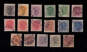 SWEDEN OFFICIALS Sc #O28-58 USED LOT NOT A COMPLETE SETSOME DUPICATES F-VF