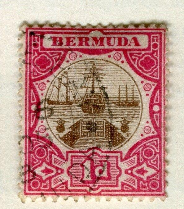 BERMUDA;   1902 early classic issue fine used 1d. value